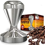 [Benicci] [Espresso Coffee Tamper, Premium Quality Stainless Steel, Solid Heavy, Barista Style, American Convex Base, 58mm] (並行輸入品)