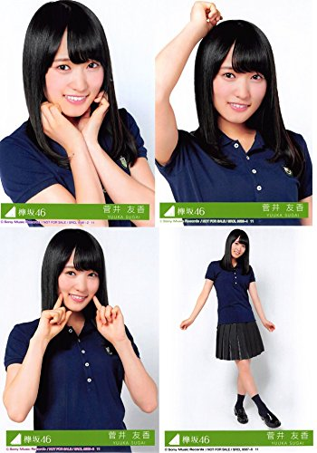 【菅井友香】 公式生写真 欅坂46 風に吹かれても 封入特典 4種コンプ