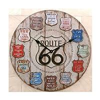 壁掛け時計アンティーク仕上げ アンティーククロック ルート66 Route66