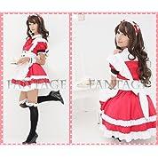 936 メイド服 赤×白 コスプレ衣装 ファンタージュ