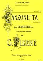 ピエルネ : カンツォネッタ 作品19 (クラリネット、ピアノ) ルデュック出版