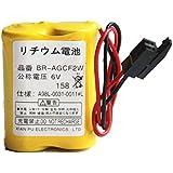 Plcbatt® BR-AGCF2W 電池 A98L-0031-0011 A06B-6093-K001 (Black Plug)