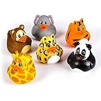 2-inch Zoo Animal Rubber Duckies (Bulk Pack of 12 Ducks) [並行輸入品]