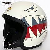 TT&CO. スーパーマグナム タイガー スモールジェットヘルメット SG/DOT 規格品 アイボリー