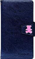スマホカバー 8色SoftBankAQUOS PHONE Xx 304SH用 Cutie Bear Pinkネイビー(04)