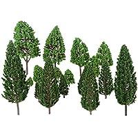 22個入りセット モデルツリー 樹木 木 鉢植え用 鉄道模型 風景 モデル トレス 情景コレクション ジオラマ 建築模型 電車模型 2.5cm-16cm 1:50スケール