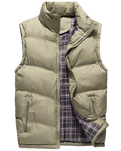 [해외]LOYEE 남성 다운 베스트 안솜 베스트 서 칼라 다운 베스트 민소매 다운 재킷 베스트 겨울 무지 두꺼운 방한 따뜻한 큰 사이즈 M-4XL 전 5 색 M24/LOYEE men`s down vest cotton vest standing collar down vest sleeveless none down jacket vest wi...