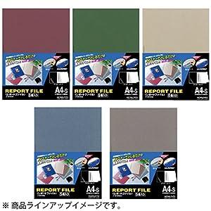 コクヨ レポートファイル A4 5冊入 赤 フ-S100R