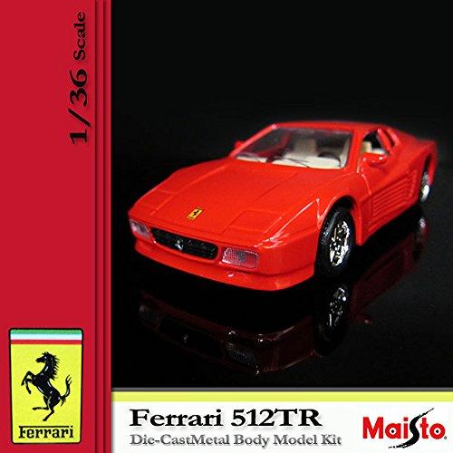 [マイスト] MAISTO FERRARI フェラーリ 512TR 1/36 Scale DIE CAST METAL BODY MODEL KID Red (7)