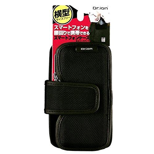 クツワ Dr.ion スマートフォンケース セミハード 215DRBK 横型 ブラック