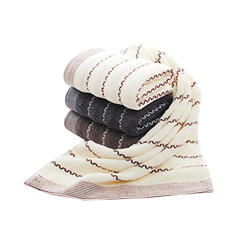 Dorcy フェイスタオル 綿100% タオル 4枚組 やわらか 74cm*34cm (セット, 74cm*34cm)