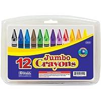BAZIC 12 Color Premium Quality Jumbo Crayon by Bazic [並行輸入品]