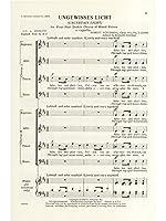 Robert Schumann: Ungewisses Licht Op.141 No.2 / ロベルト・シューマン: おぼろな光 Op.141 No.2 楽譜. For 混声四部合唱(SATB), 合唱