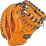 ZETT(ゼット) 硬式野球 プロステイタス プレミアム キャッチャーミット オレンジ×ブラック(5619) 右投げ用 メンテナンス保証付き 日本製 BPROCM2S