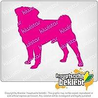 パグの犬の繁殖のパグのカーリン Pug Dog Breed Pug Carlin 11cm x 10cm 15色 - ネオン+クロム! ステッカービニールオートバイ