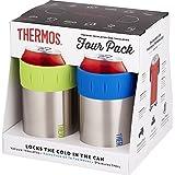 THERMOS 保冷缶ホルダー 4個セット [並行輸入品]