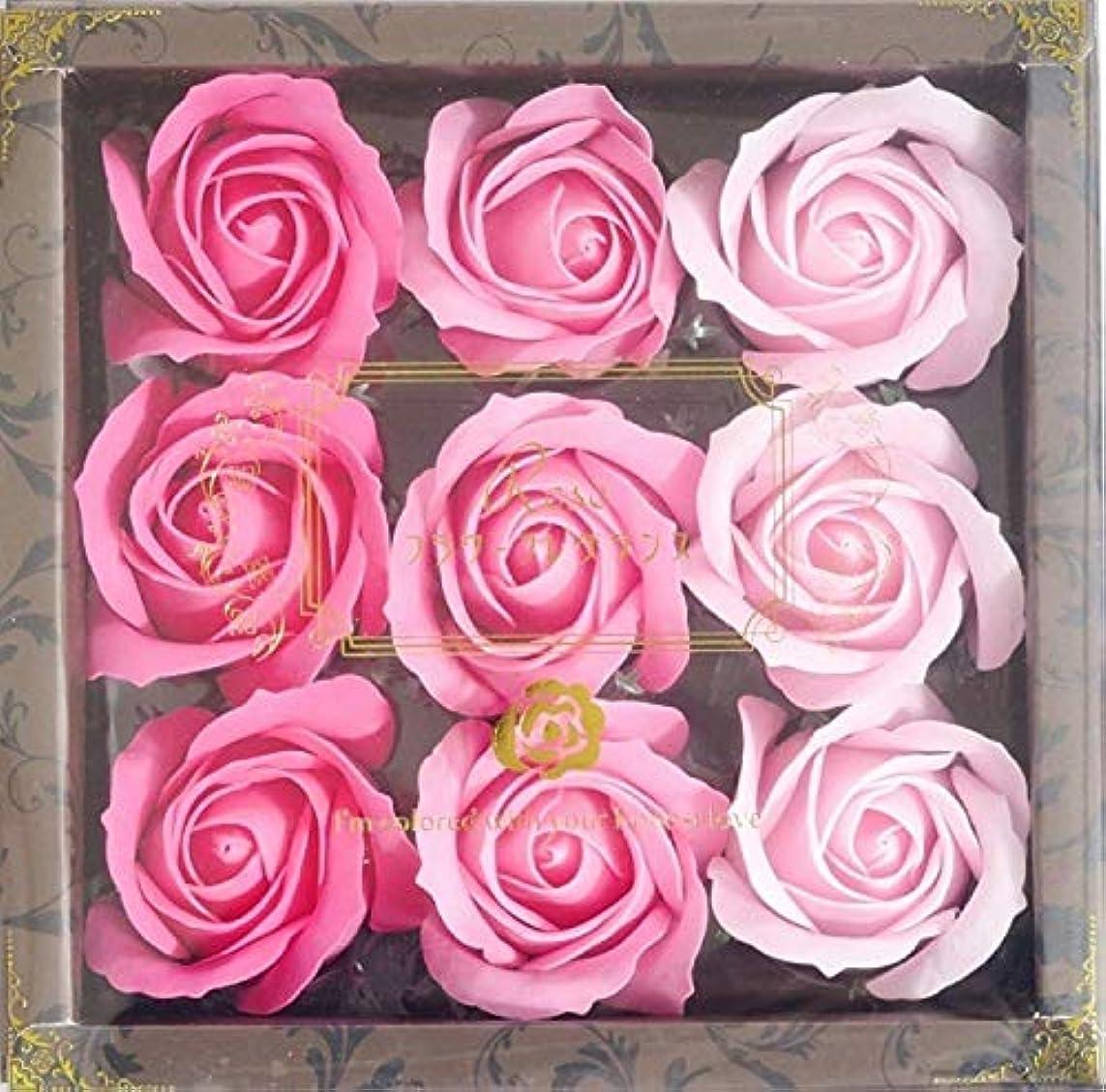 リスナー混雑ボイコットバスフレグランス バスフラワー ローズフレグランス ピンクカラー お花の形の入浴剤 プレゼント ばら ギフト