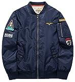 メンズ フライトジャケット sawadikaaメンズLight Weight Running Bomberフライトジャケットプラスサイズウインドブレーカー US サイズ: XX-Large カラー: ブルー