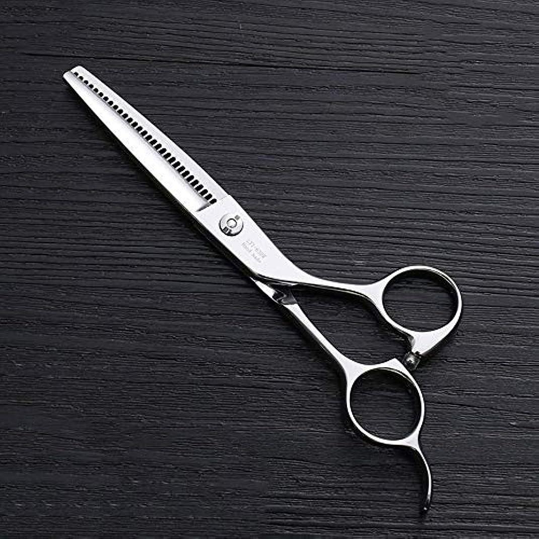 泥棒敏感な名前6インチ理髪はさみ、30歯理髪はさみ、ステンレス鋼理髪ツール モデリングツール (色 : Silver)