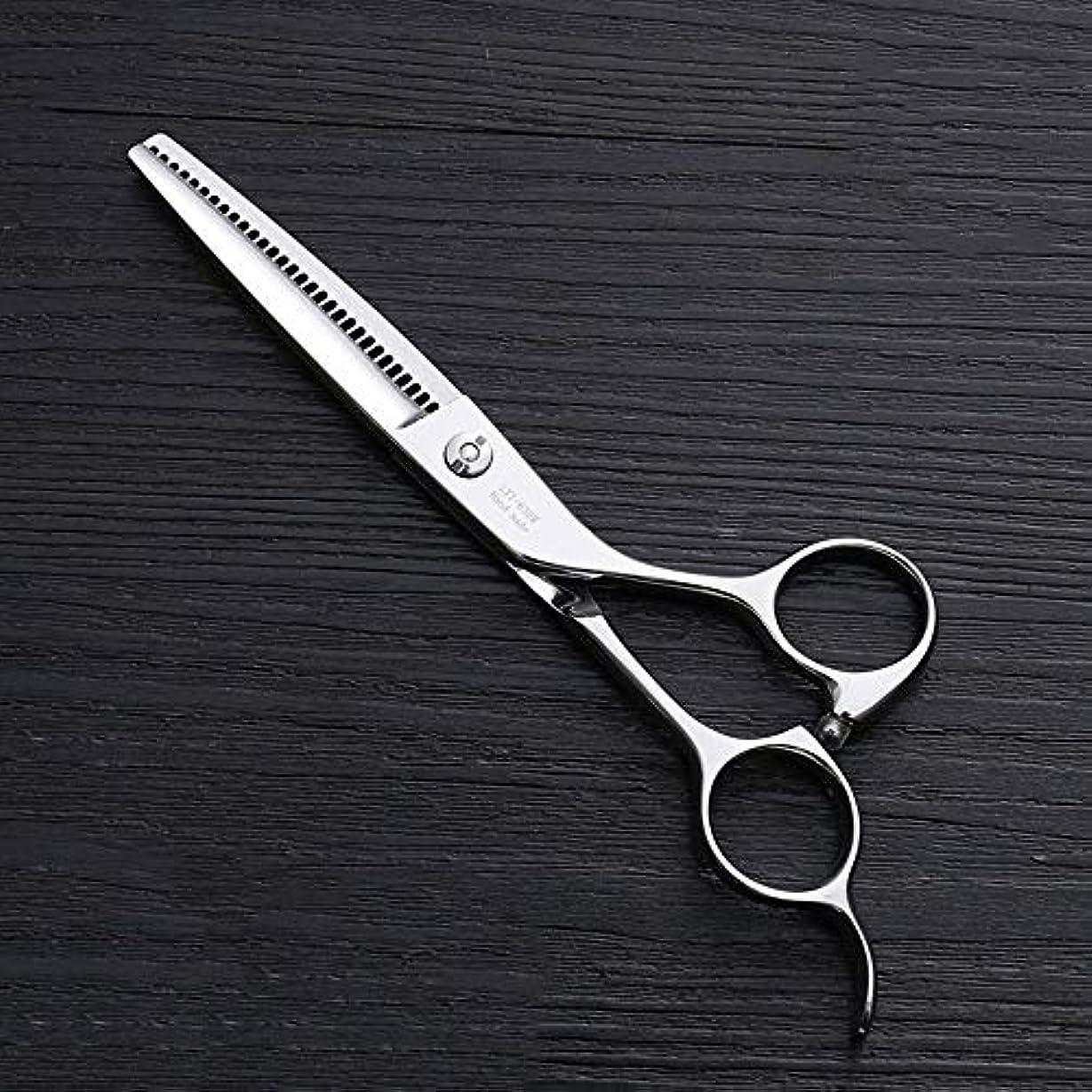 灰遺棄された成人期6インチ理髪はさみ、30歯理髪はさみ、ステンレス鋼理髪ツール モデリングツール (色 : Silver)