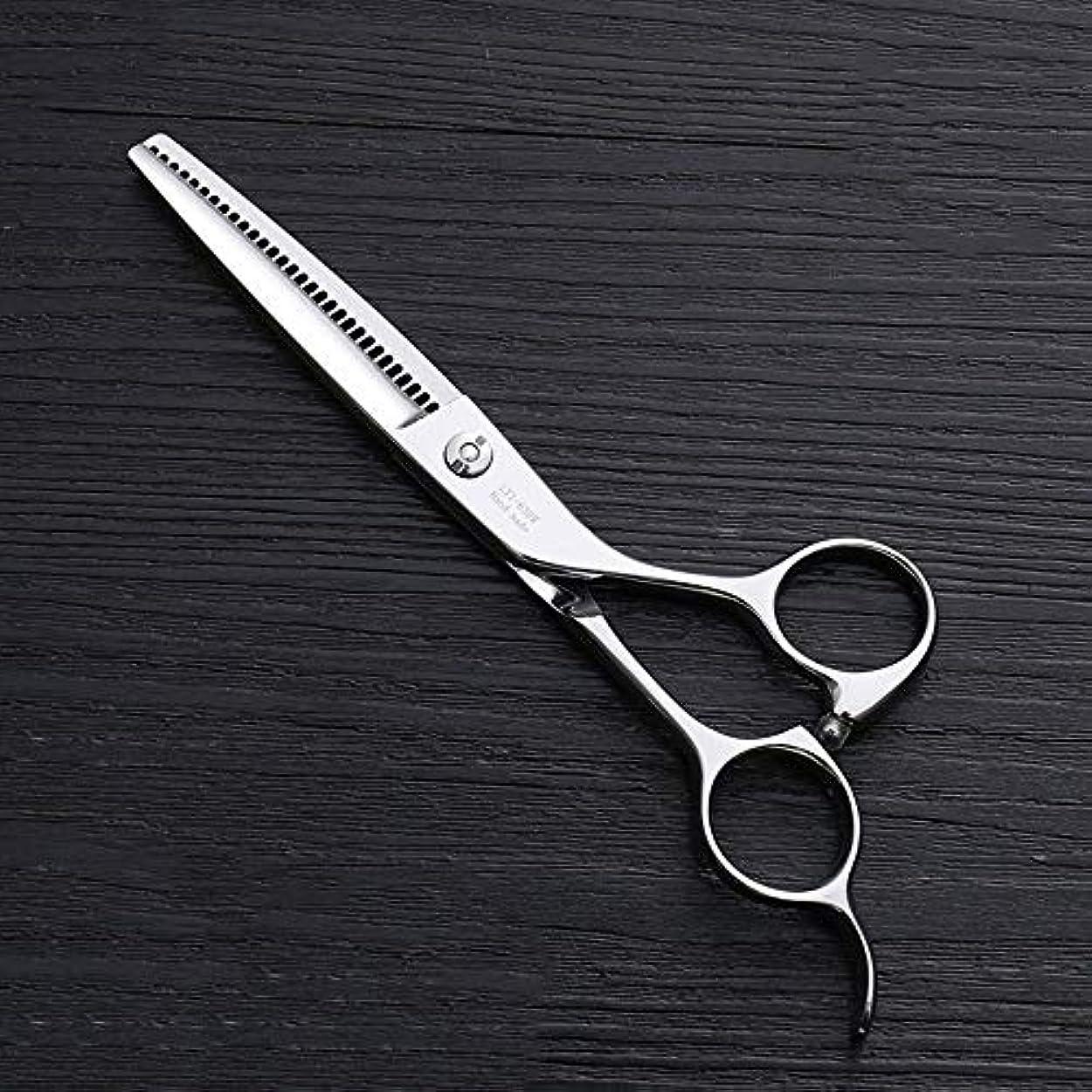 たぶん城実質的に6インチ理髪はさみ、30歯理髪はさみ、ステンレス鋼理髪ツール モデリングツール (色 : Silver)