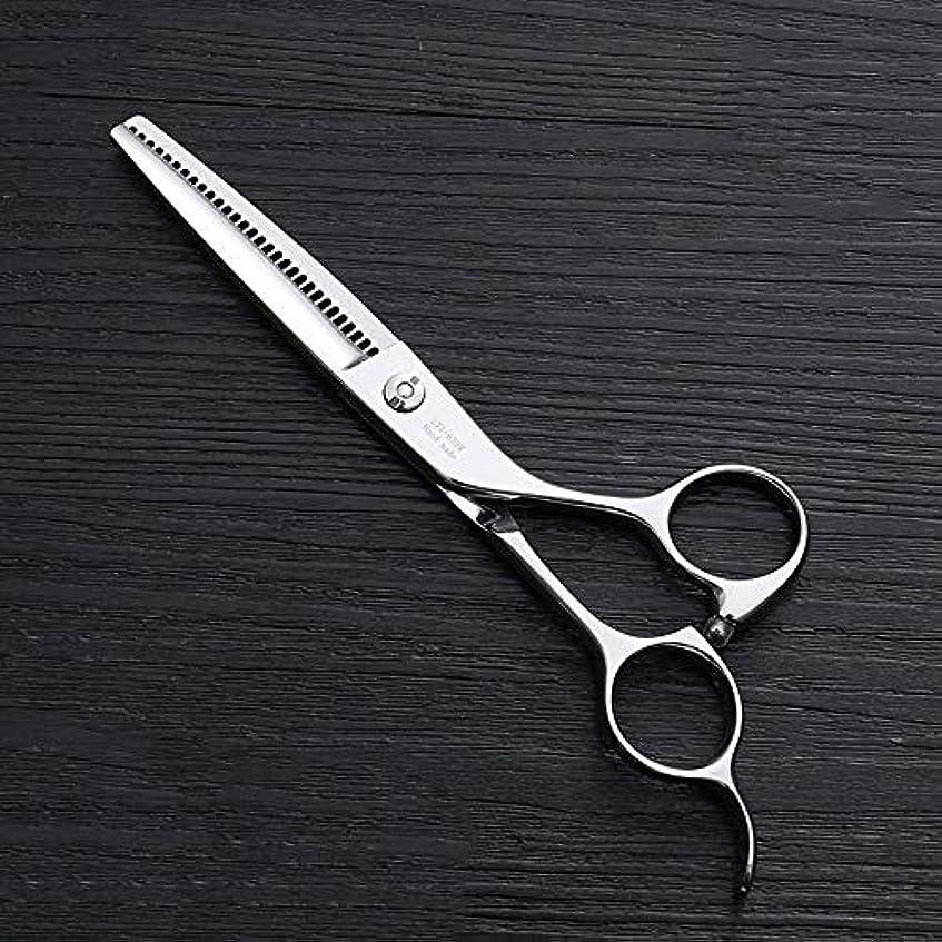 アンケートタフ確認してください6インチ理髪はさみ、30歯理髪はさみ、ステンレス鋼理髪ツール ヘアケア (色 : Silver)