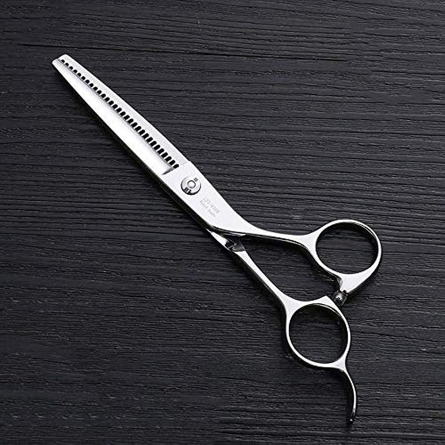 蛇行原理レプリカ理髪用はさみ 6インチ理髪はさみ、ステンレス鋼理髪ツール、30歯理髪はさみ毛切断鋏ステンレス理髪はさみ (色 : Silver)