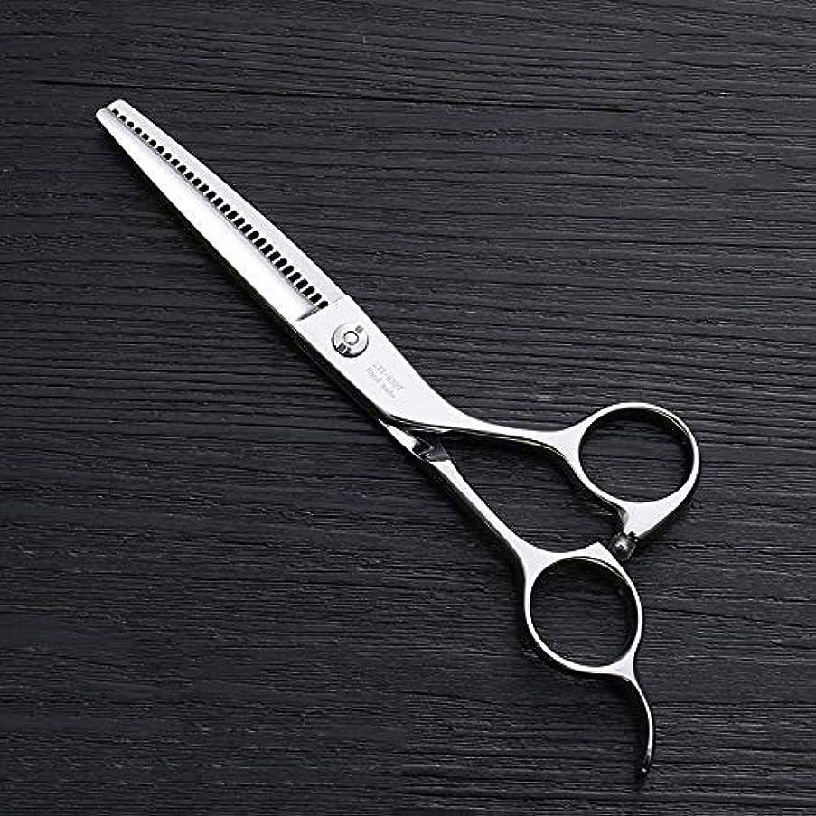 人に関する限り手書きにじみ出る6インチ理髪はさみ、30歯理髪はさみ、ステンレス鋼理髪ツール ヘアケア (色 : Silver)
