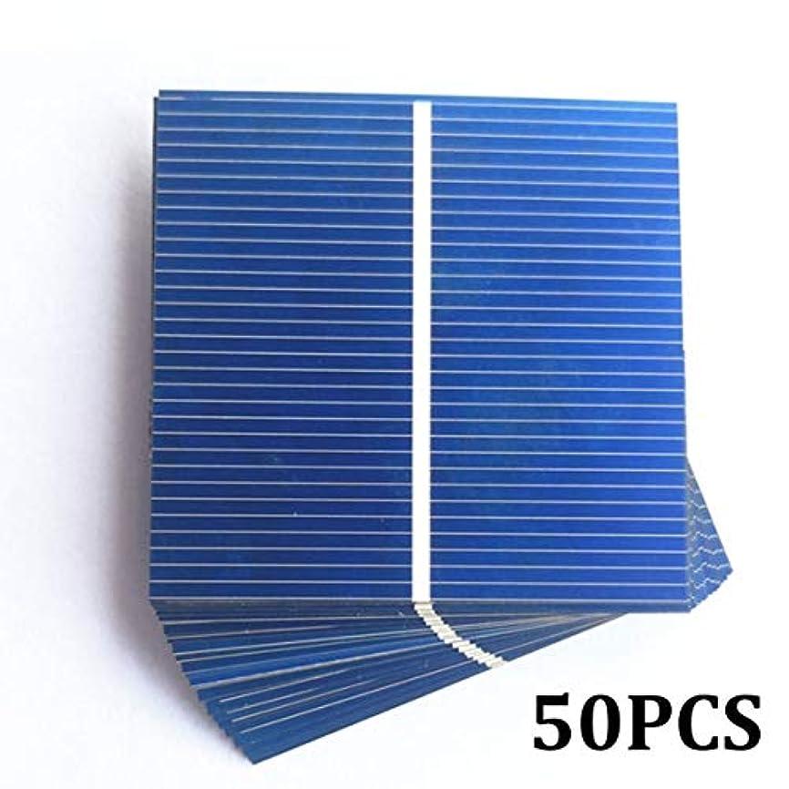 海上不毛のファブリック50/100個52 * 52mm 0.5V 0.43WソーラーパネルDIYソーラーセルバッテリー充電器DIYソーラーバッテリー充電器Painel Solar