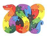 WONZOM 積み木 パズル 26ピース 知育 玩具 幼児 子供 教育 教材 木のおもちゃ ブロック パズル 木製 はめこみ へび