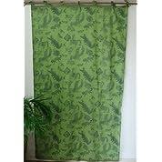 カーテン 間仕切り インド綿 エスニック アニマル柄 緑 e_curtain_062