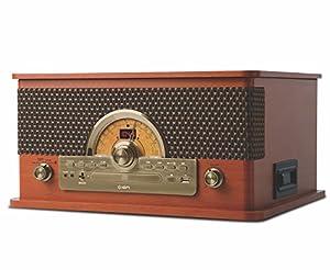 ION Audio レトロ調 ミュージックプレーヤー 7種再生【レコード、カセット、CD、ラジオ、USB、Bluetooth、外部入力】 Superior LP