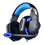 KOTION EACH G2000 ゲーミング ヘッドセット ヘッドホン ヘッドフォン ゲームヘッドセット マイク付き ゲーム用 PC パソコン スカイプ fps 対応 男女兼用 プレゼント (ブルー