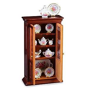 【ロイターポーセリン】【ミニチュア】 陶器コレクション入りカップボード RP1717-1