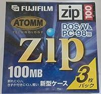 FUJIFILM DOS/V&PC-98用フォーマット済み 100MB ZIPメディア 3枚組 ソフトプラケース