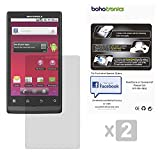 (2) Pack Combo Two Premium Screen Protectors With Micro Fiber Cleaning Cloth Included - Compatible With Motorola Triumph WX435 - Ultra Clear