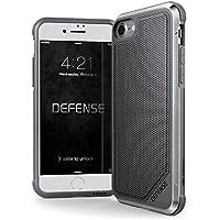 X-Doria iPhone 8 / 7 ケース DEFENSE LUX シリーズ 米軍MIL規格取得 MIL-STD-810G 衝撃吸収 スリム ハイブリッド アルミニウム × TPU × ポリカーボネイト ケース 【 グレー・ナイロン 】