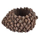 uxcell 植物 植木鉢 樹脂 パイン円錐形 ホーム 庭園 オフィス アロエ サボテン ブラウン