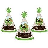 Woodland Creatures – Mini円錐ベビーシャワーまたは誕生日パーティー帽子 – スモールLittle Party Hats – 10のセット