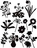 商用OK!フラワーシルエット(300種類以上の花のシルエットイラスト素材集)