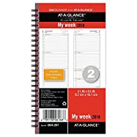 at a glance day runner weekly planner refill january 2018 december