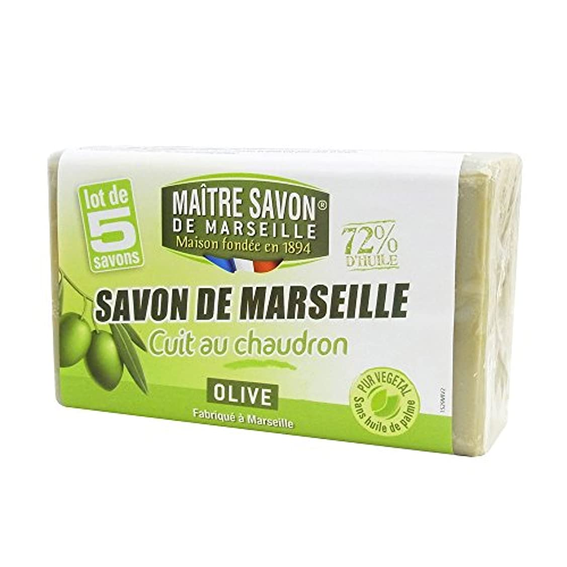 カジュアル男部分Maitre Savon de Marseille(メートル?サボン?ド?マルセイユ) サボン?ド?マルセイユ オリーブ 100g×5個