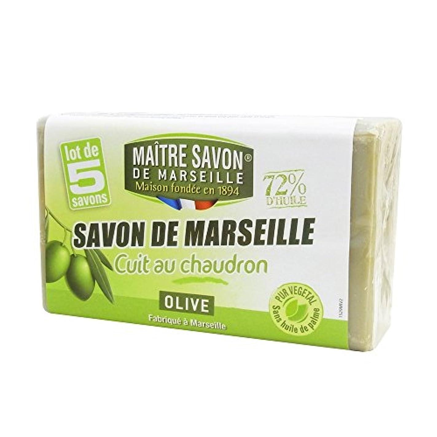 理論的事前可聴Maitre Savon de Marseille(メートル?サボン?ド?マルセイユ) サボン?ド?マルセイユ オリーブ 100g×5個