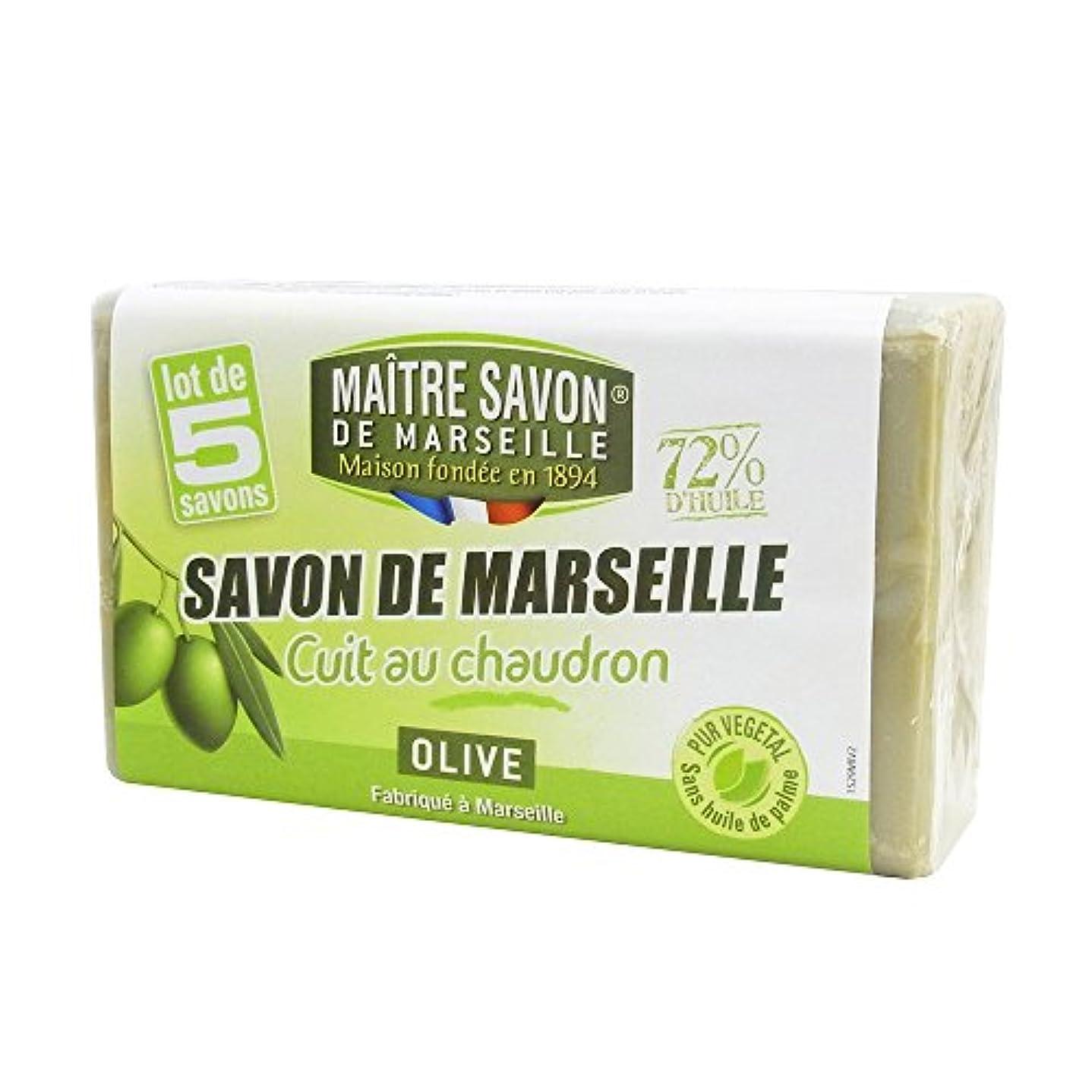 円形大洪水挽くMaitre Savon de Marseille(メートル?サボン?ド?マルセイユ) サボン?ド?マルセイユ オリーブ 100g×5個