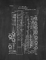 "Oboe特許印刷アートポスター黒板 11"" x 14"" 12468-54-11"