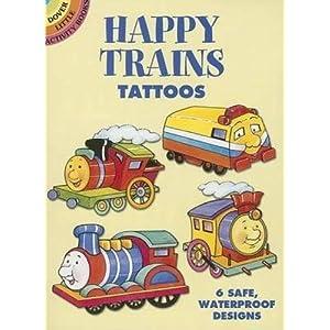 Happy Trains Tattoos (Dover Tattoos)