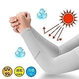 男女兼用 UVカット手袋・アームカバー 涼感UVカット アームカバー 紫外線対策 99%カット! 日焼け止め 紫外線ダメージからお肌をガード!定番ブラックの涼感タイプアームカバーです 指穴アームカバー 速乾性 冷感 (TypeA-04)