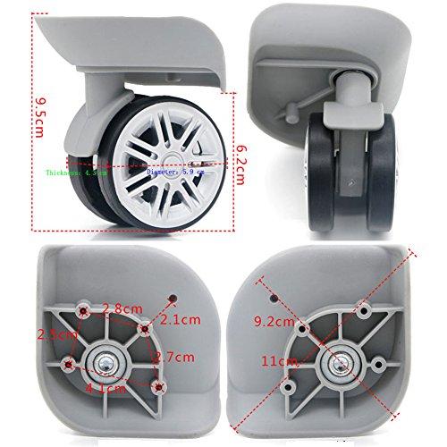 崇明 1 ペア ーツケースの ホイール 代用品 取替え ス DIY 交換 キャスター スーツケースキャリーボックスなどの車輪補修用 トラベルバッグラゲッジ修理 (W074) (グレー)
