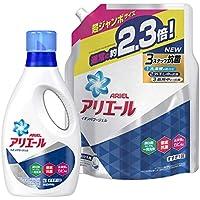 【まとめ買い】 アリエール 洗濯洗剤 液体 イオンパワージェル 本体 910g+詰替用 超ジャンボサイズ 1.62kg
