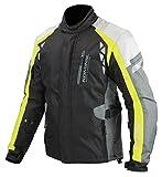 コミネ(Komine) バイクジャケット プロテクトウインタージャケット-スキピオ ブラック/ネオン L 07-577 JK-577